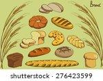 cartoon bread on a neutral... | Shutterstock .eps vector #276423599
