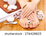 brown manicure and pedicure on...   Shutterstock . vector #276428825