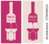 vector concept design wine list ... | Shutterstock .eps vector #276438314