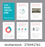 red and teal brochure template  ... | Shutterstock .eps vector #276441761