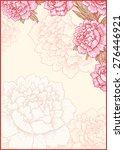frame. floral background. card. | Shutterstock .eps vector #276446921