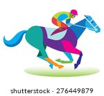 a professional jockey takes... | Shutterstock .eps vector #276449879