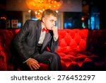 elegant young fashion man in... | Shutterstock . vector #276452297