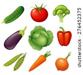 fresh vegetables. vegetable... | Shutterstock .eps vector #276452375