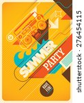 summer party poster design.... | Shutterstock .eps vector #276454115