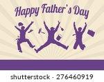 silhouette of men jumping for... | Shutterstock .eps vector #276460919