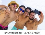 group of four male friend... | Shutterstock . vector #276467504