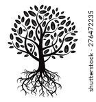 black vector tree and roots | Shutterstock .eps vector #276472235