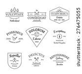 vintage and retro style logos... | Shutterstock .eps vector #276475055