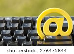 black keyboard with yellow sign ... | Shutterstock . vector #276475844