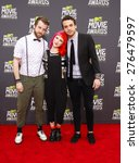 Small photo of Paramore at the 2013 MTV Movie Awards at the Sony Pictures Studios on April 14, 2013 in Los Angeles, California.