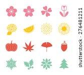 season icon set | Shutterstock .eps vector #276481211