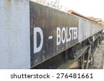 old trainmen and carriages  | Shutterstock . vector #276481661