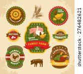vintage farm labels vector... | Shutterstock .eps vector #276482621