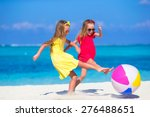 Little Adorable Girls Playing...