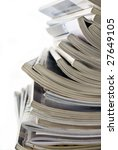 stack of different magazines | Shutterstock . vector #27649105