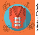 flat color design vector...   Shutterstock .eps vector #276494474