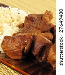 Small photo of Pork Adobo with Rice
