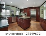 kitchen with wood cabinets | Shutterstock . vector #27649672