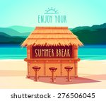 Tiki Bar. Summer Card   Poster...