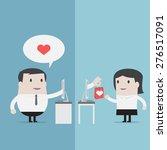 businessman sent heart online   ... | Shutterstock .eps vector #276517091