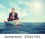 businessman sitting in lotus... | Shutterstock . vector #276517331