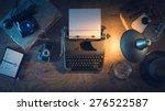 retro journalist's desk 1950s... | Shutterstock . vector #276522587