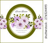 invitation card with floral... | Shutterstock .eps vector #276524495