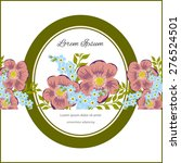 invitation card with floral... | Shutterstock .eps vector #276524501