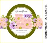 invitation card with floral... | Shutterstock .eps vector #276526841