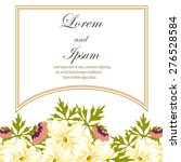 invitation card with floral...   Shutterstock . vector #276528584