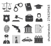 law and justice icons set | Shutterstock .eps vector #276529565