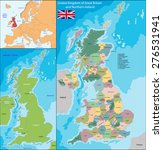 map of the united kingdom of... | Shutterstock . vector #276531941
