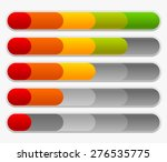 progress or loading bars in... | Shutterstock .eps vector #276535775