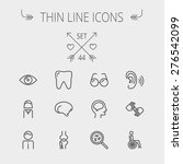 medicine thin line icon set for ...