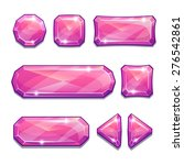 set of pink crystal buttons ...
