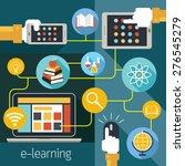 school online  e learning  e... | Shutterstock .eps vector #276545279