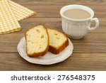two pound cake slices on a... | Shutterstock . vector #276548375
