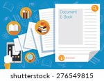 hand and tablet with documents... | Shutterstock .eps vector #276549815