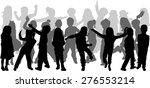 children silhouettes | Shutterstock .eps vector #276553214