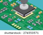 vector surface mount technology ... | Shutterstock .eps vector #276553571
