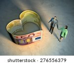 couple holding hands  next to... | Shutterstock . vector #276556379