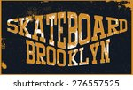 skateboard tee graphic | Shutterstock .eps vector #276557525