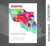 vector colorful brochure cover... | Shutterstock .eps vector #276559289