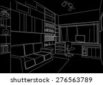 linear architectural sketch... | Shutterstock .eps vector #276563789