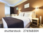 Stock photo interior of a hotel room for two persons modern luxury design 276568304
