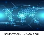 vector digital global... | Shutterstock .eps vector #276575201