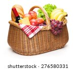 Picnic Basket With Food ...