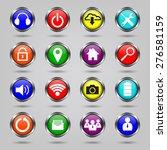 internet  website icons set | Shutterstock .eps vector #276581159