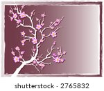 cherry blossoms with grunge... | Shutterstock .eps vector #2765832